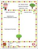 Johnny Appleseed Themed Newsletter (editable)