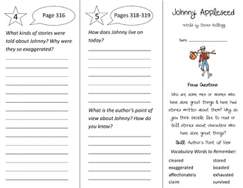 Johnny Appleseed Trifold - Imagine It 3rd Grade Unit 6 Week 4