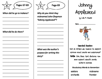 Johnny Appleseed Trifold - ReadyGen 2nd Grade Unit 5 Module A