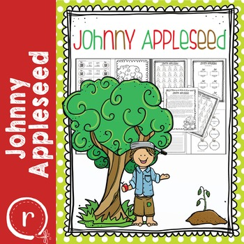 Johnny Appleseed Activities with Math Close Reading and Coloring