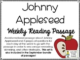 Johnny Appleseed - Weekly Reading Passage and Questions