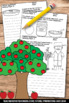 Johnny Appleseed Day Vocabulary Word Search and Writing Pa