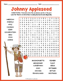 Johnny Appleseed Word Search Puzzle