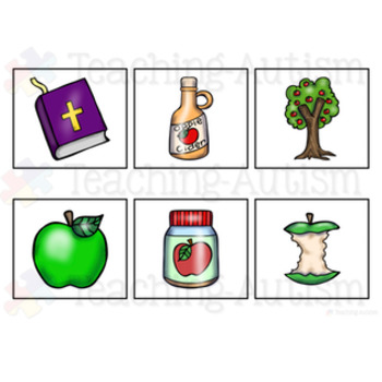 Johnny Appleseed Word to Picture Matching