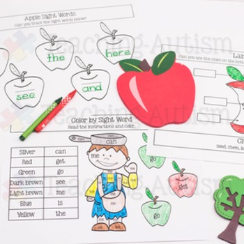 Johnny Appleseed Work Book Worksheets