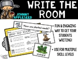 September Write the Room - Apples and Johnny Appleseed Write the Room