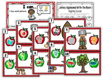 Johnny Appleseed Write the Room - Beginning Sounds Edition