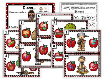 Johnny Appleseed Write the Room - Rhyming Sounds Edition
