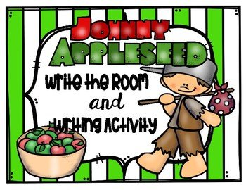 Johnny Appleseed Write the Room and Writing Activity