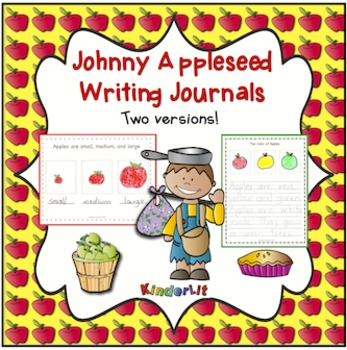 Johnny Appleseed Writing Journals