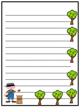 Johnny Appleseed Writing Paper