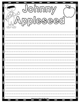 Johnny Appleseed Writing Paper Freebie