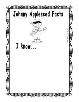 Johnny Appleseed Writing Prompts for Pre-K, Kindergarten, or First Grade