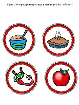 Johnny Appleseed Yummies Packet!  (all about apple foods/dishes)