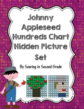 Johnny Appleseed  and Apple Tree Hundreds Chart Hidden Picture Set