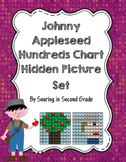 Johnny Appleseed  and Apple Tree Hundreds Chart Hidden Pic