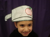 Johnny Appleseed hat pattern and coloring reader combo (Spanish Only)