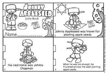 Johnny Appleseed little book and activities