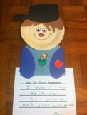 Johnny Appleseed paper plate activity with writing paper