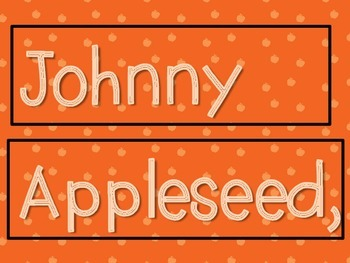 Johnny Appleseed, what do you see? (pocket chart game to identify colors)