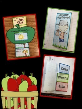 Johnny Appleseed/Apples Unit Interactive Notebook