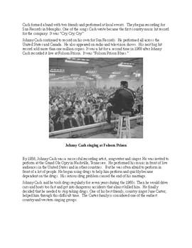 Johnny Cash - A Short Illustrated Biography for Kids