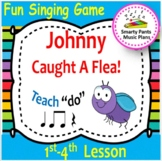 Johnny Caught A Flea {Kodaly Song for teaching ta, ti ti, ta rest & do}