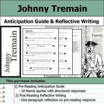 Johnny Tremain - Anticipation Guide & Reflection Writing