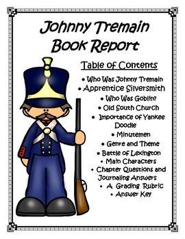 Johnny Tremain Book Report and Lapbook