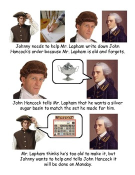 Johnny Tremain Chapter 1- Simplified summary with pictures