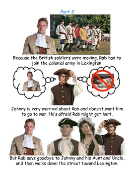 Johnny Tremain Chapter 10- Simplified summary with pictures
