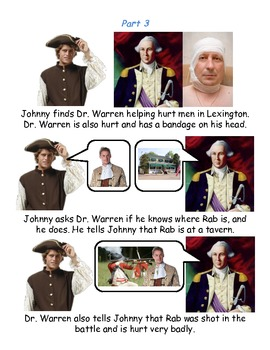 Johnny Tremain Chapter 12- Simplified summary with pictures