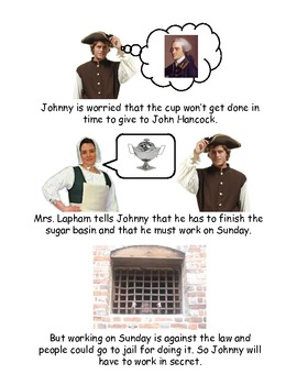 Johnny Tremain Chapter 2 - Simplified summary with pictures
