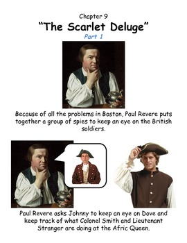 Johnny Tremain Chapter 9- Simplified summary with pictures