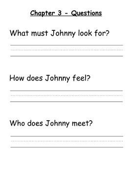 Johnny Tremain - Modified Book Comprehension Questions (Dolch)