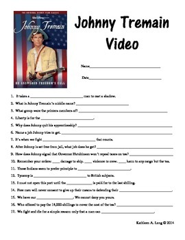 Johnny tremain teaching resources teachers pay teachers johnny tremain video questions johnny tremain video questions fandeluxe Gallery