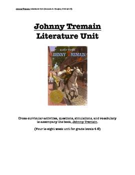 Johnny Tremain cross-curricular literature unit
