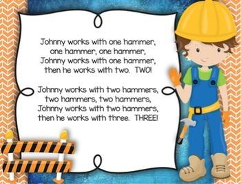 Johnny Works With One Hammer{Steady Beat}{Rhythm} Kodaly Method Folk Song File