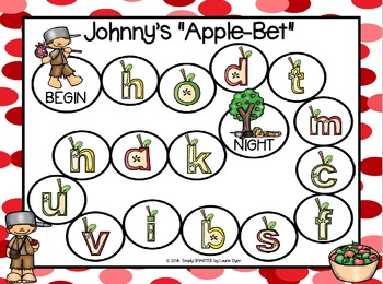 """Johnny's """"Apple-Bet"""":  NO PREP Johnny Appleseed Letter Identification Board Game"""