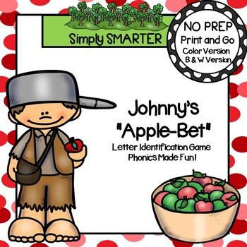 "Johnny's ""Apple-Bet"":  NO PREP Johnny Appleseed Letter Ide"