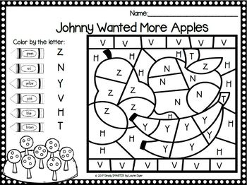 Johnny's Colorful Adventures:  NO PREP Alphabet Color By The Code