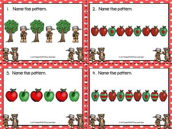 Johnny's Pattern Pal:  LOW PREP Johnny Appleseed Themed Patterning Task Cards