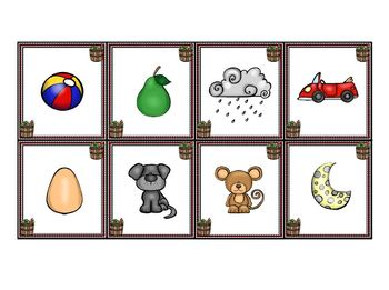 Johnny's Rhyming Orchard:  LOW PREP Johnny Appleseed Themed Rhyming Mats