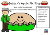 Johnny Appleseed Apple Pie Shop Fall Graphing Common Core Math 3.MD.B.3 Graphing