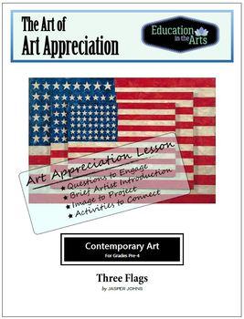 Johns Three Flags Pop Art Grades 1-2
