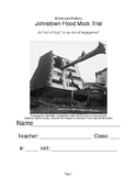 Johnstown Flood Mock Trial Character Packet