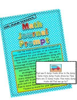 Math Journal Prompt- Dumptrucks
