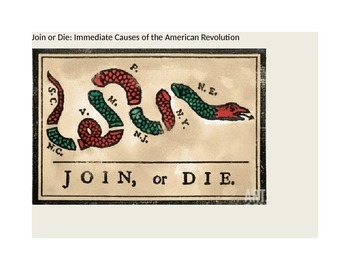 The American Revolution: Immediate Causes (Reading/Activity)