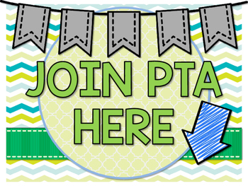 Join PTA Sign by The Flamingo Classroom | Teachers Pay Teachers