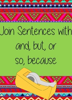 Join Sentences with conjunctions